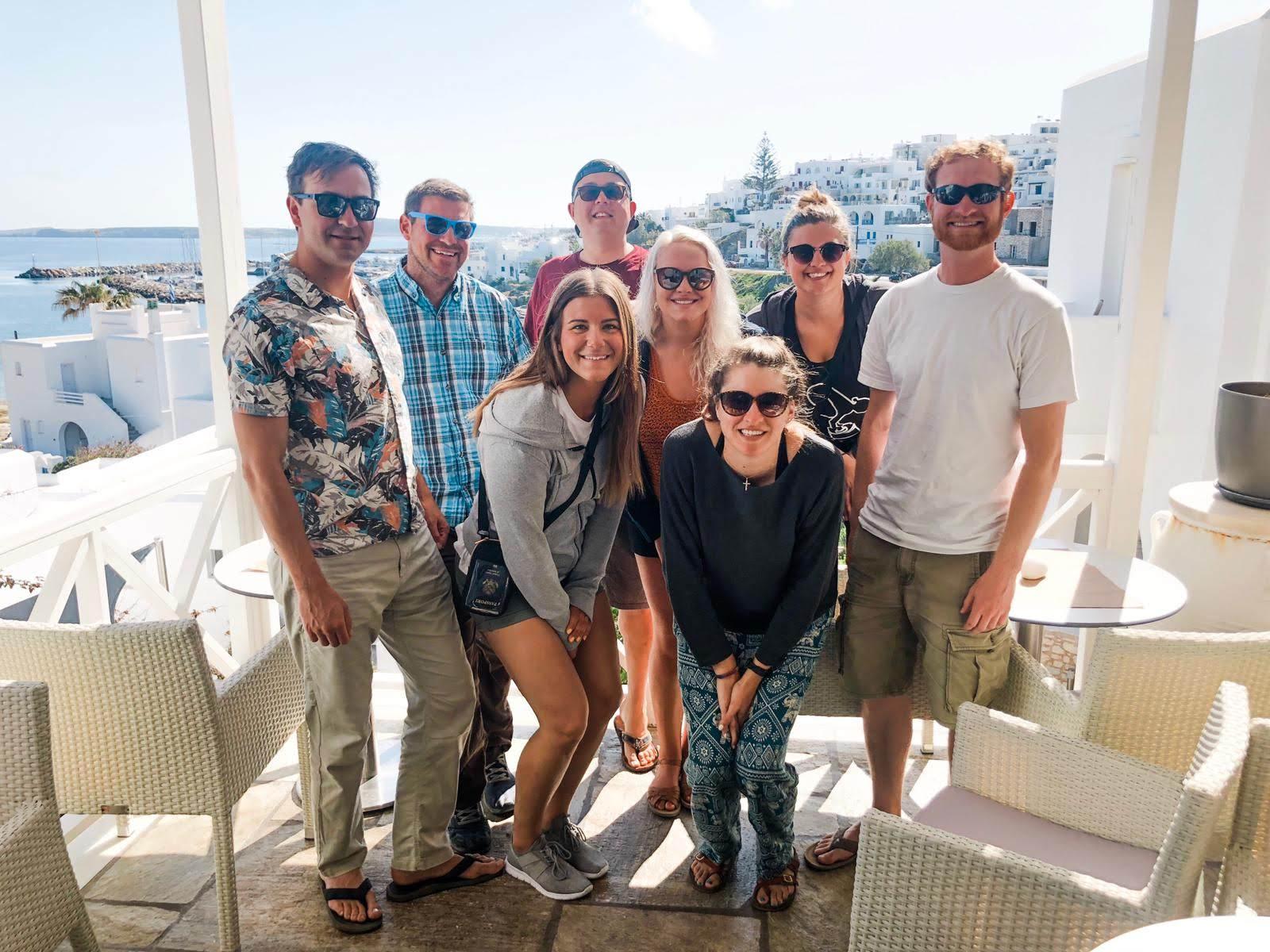 Team Serifos (minus Skipper Mark) — A.K.A. my best friends for the week.