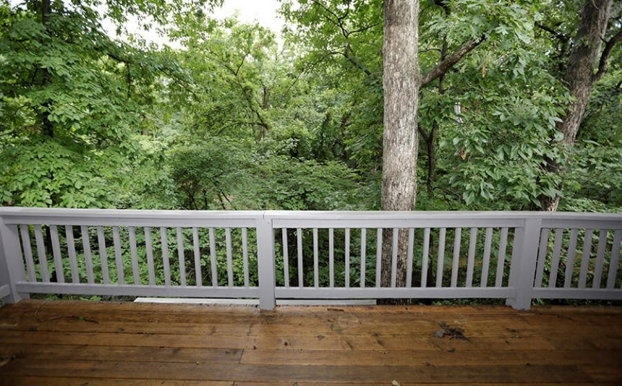Our relaxing tree-house view.