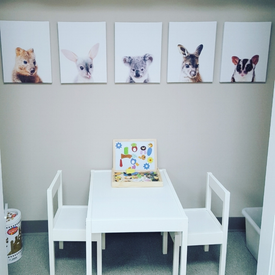 Our cute kiddo corner.