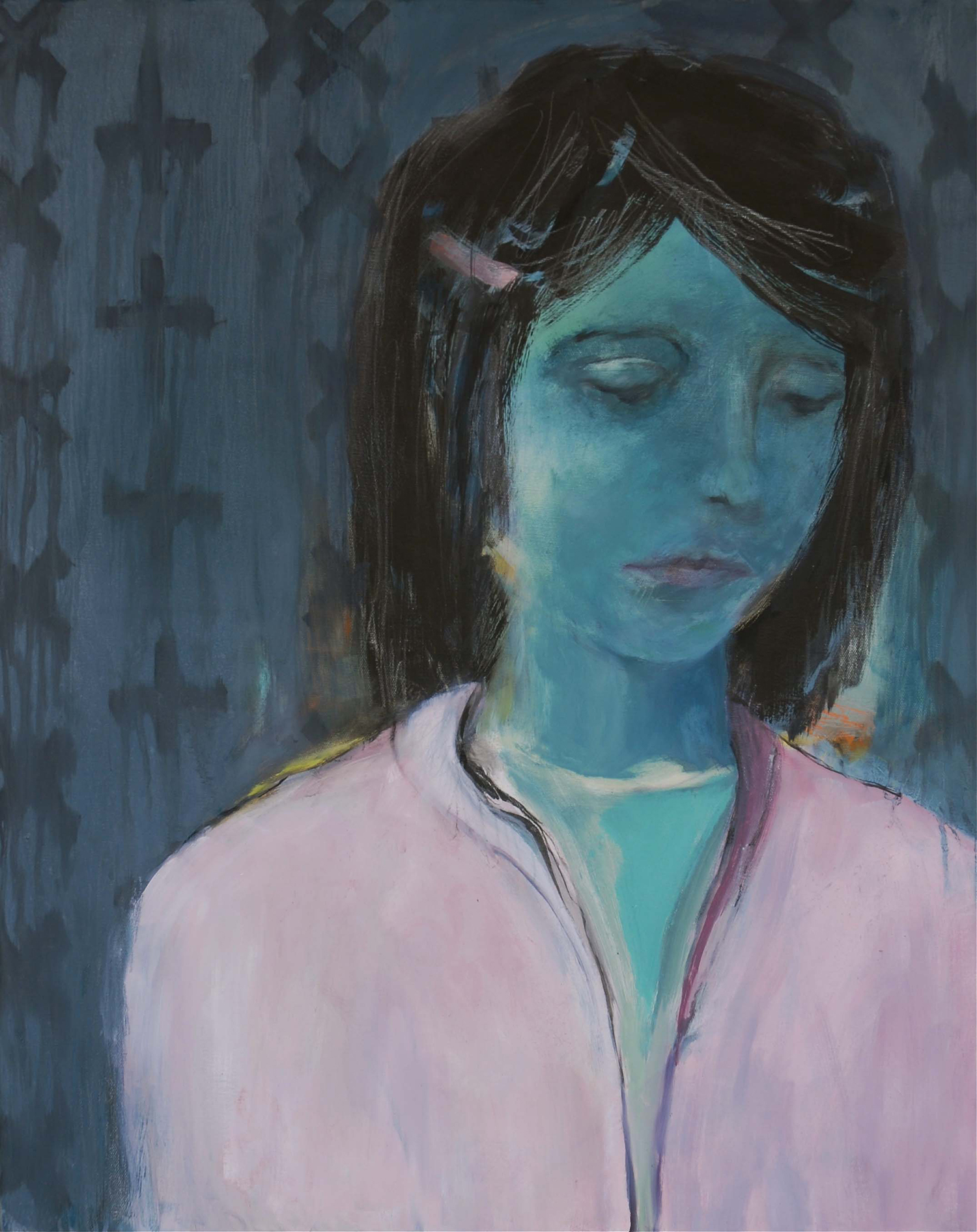 GIRL IN A PINK BLOUSE