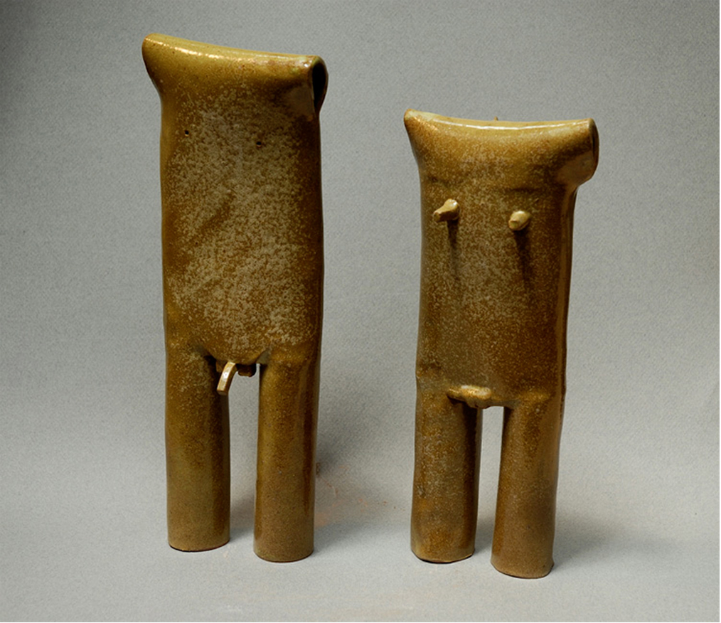 MALE & FEMALE EFFIGY FIGURES
