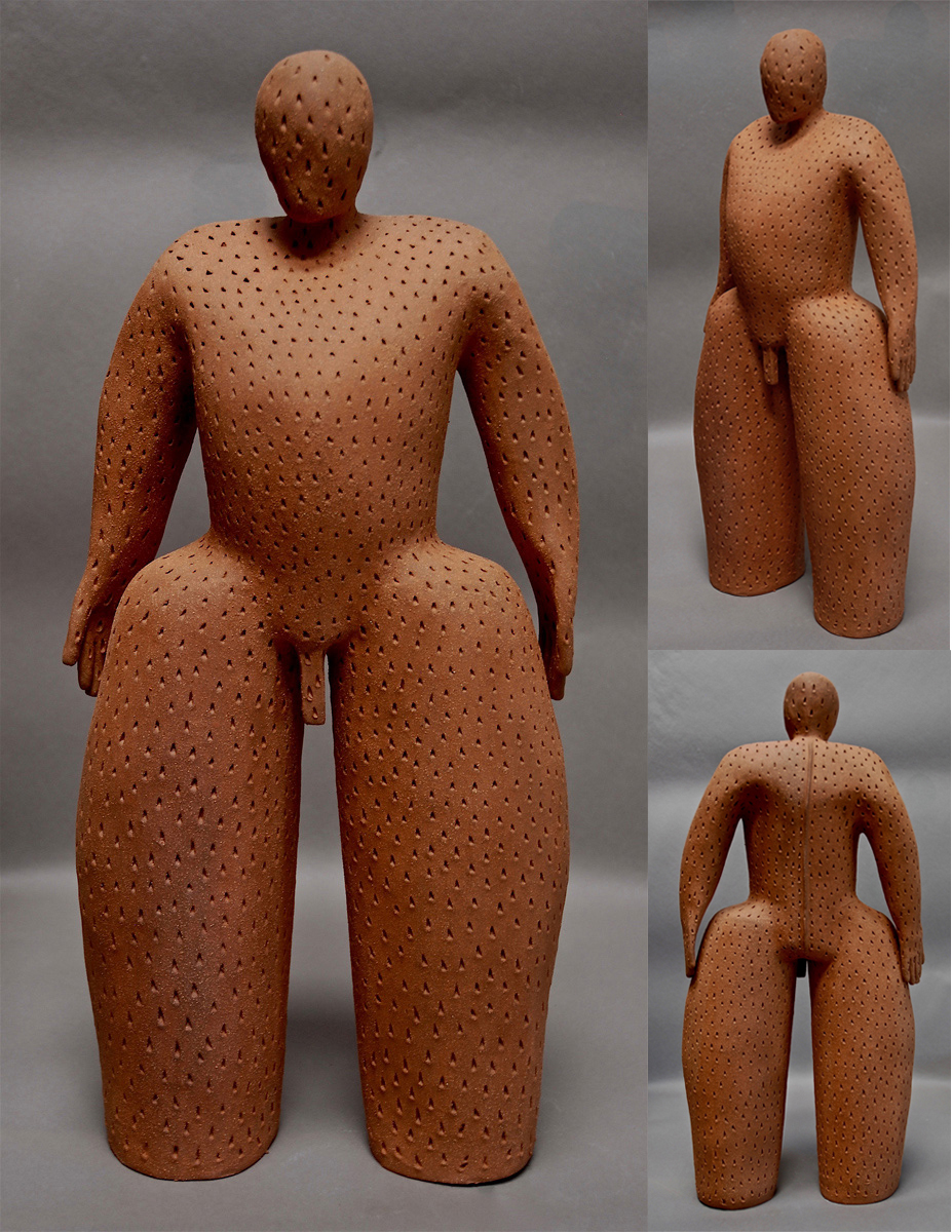 TEXTURED MAN - GREENWARE