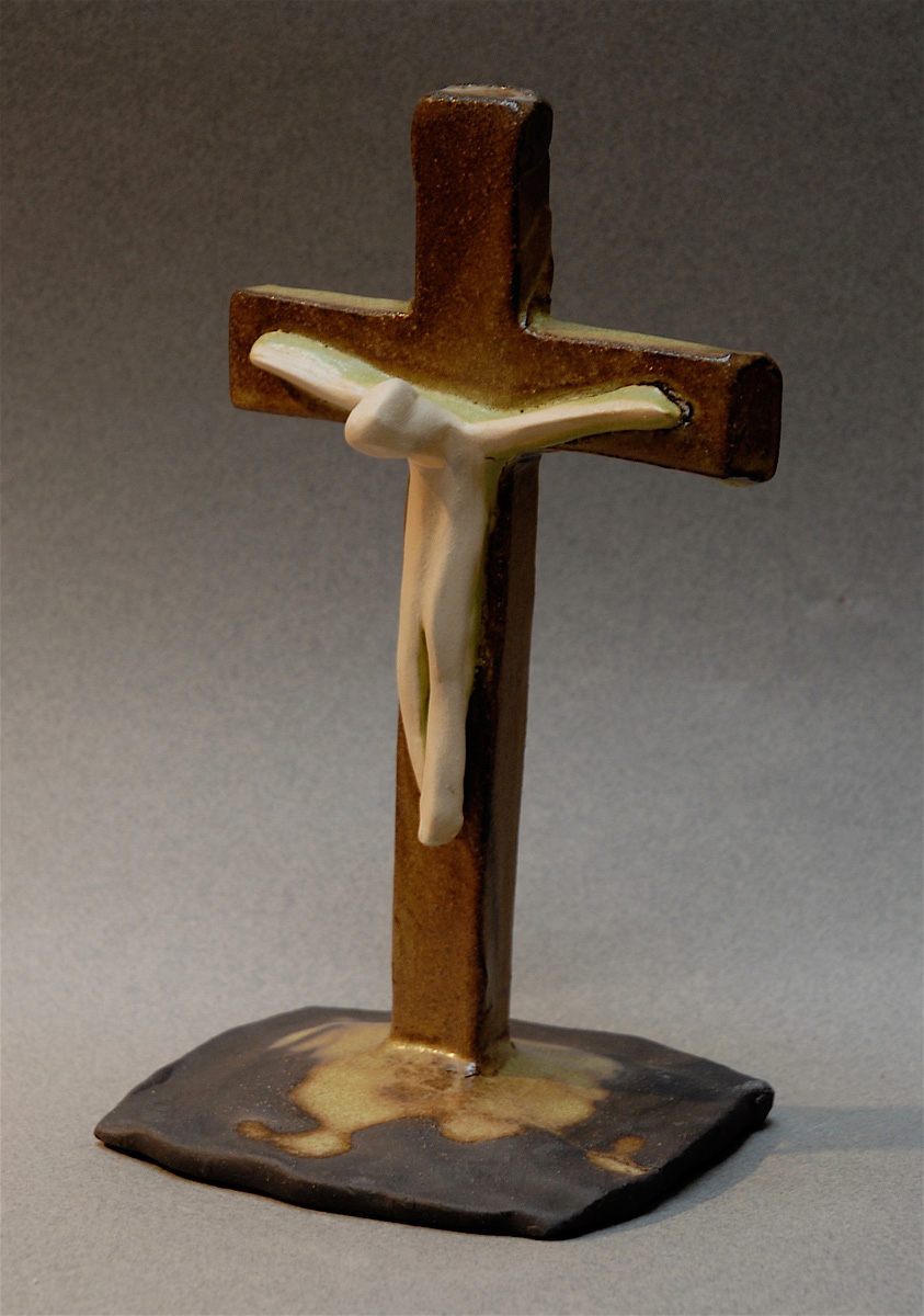WHITE JESUS CRUCIFIX