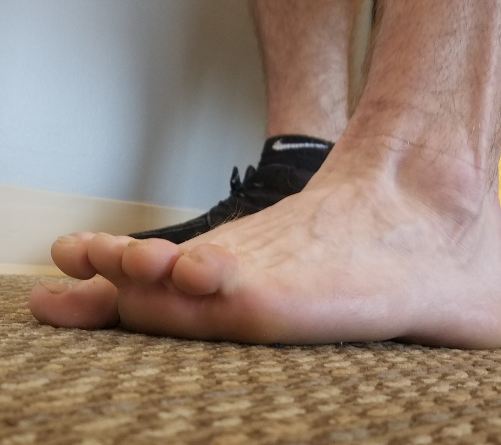 Little Toe Extensions  - Drive big toe down into floor and lift four little toes up. Keep big toe down. MODIFY by using hands to hold big toe down and help pull little toes up if need be.