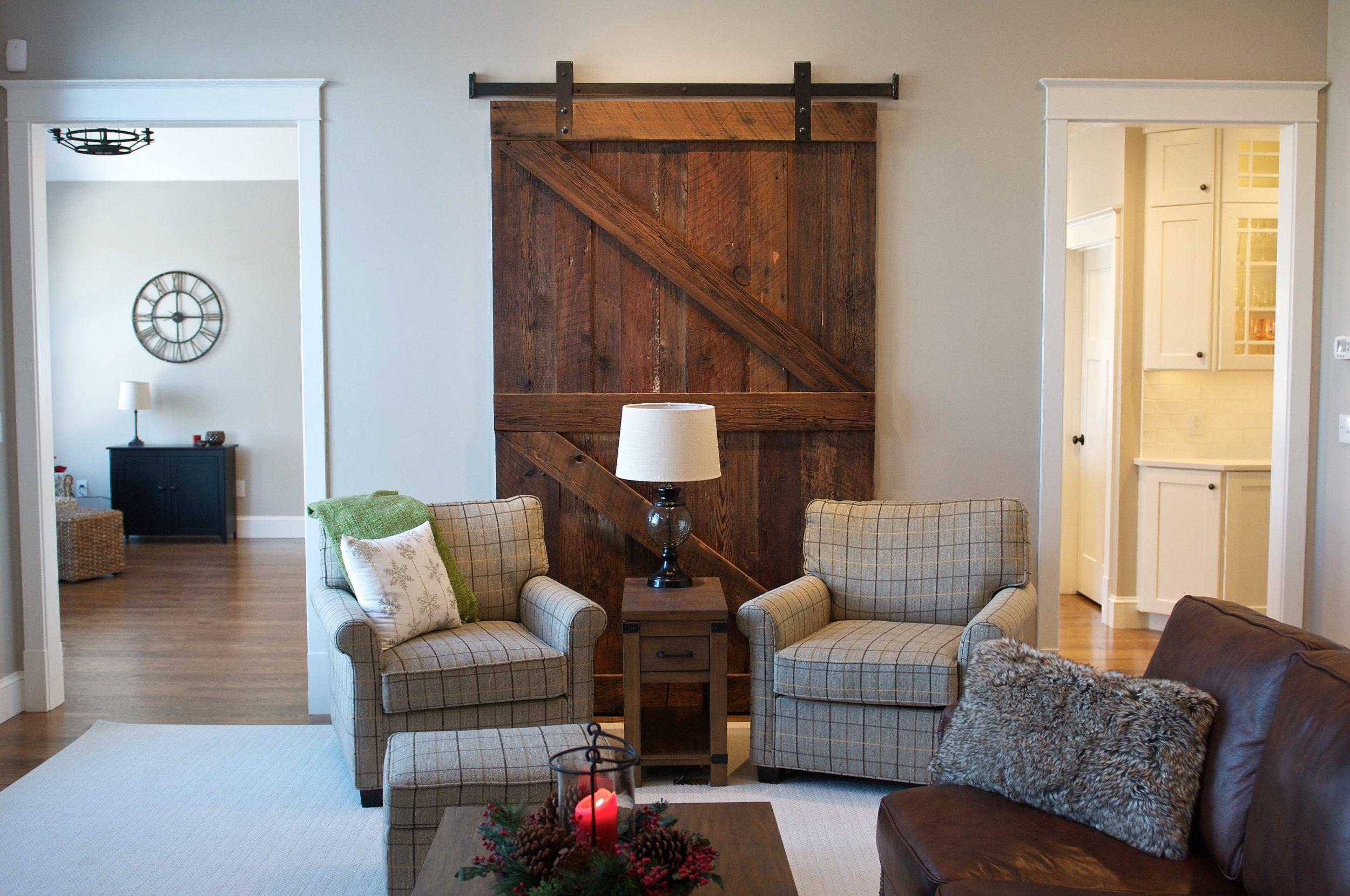 Architectural feature, custom interior sliding door