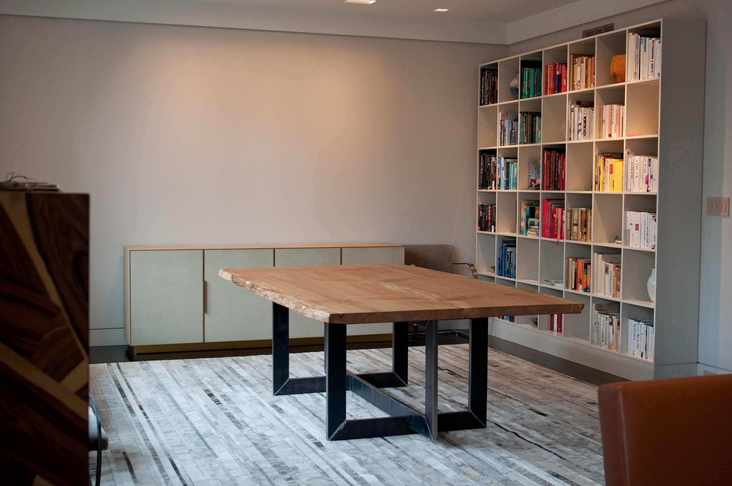 Bespoke furniture, custom handmade industrial style, dining room table