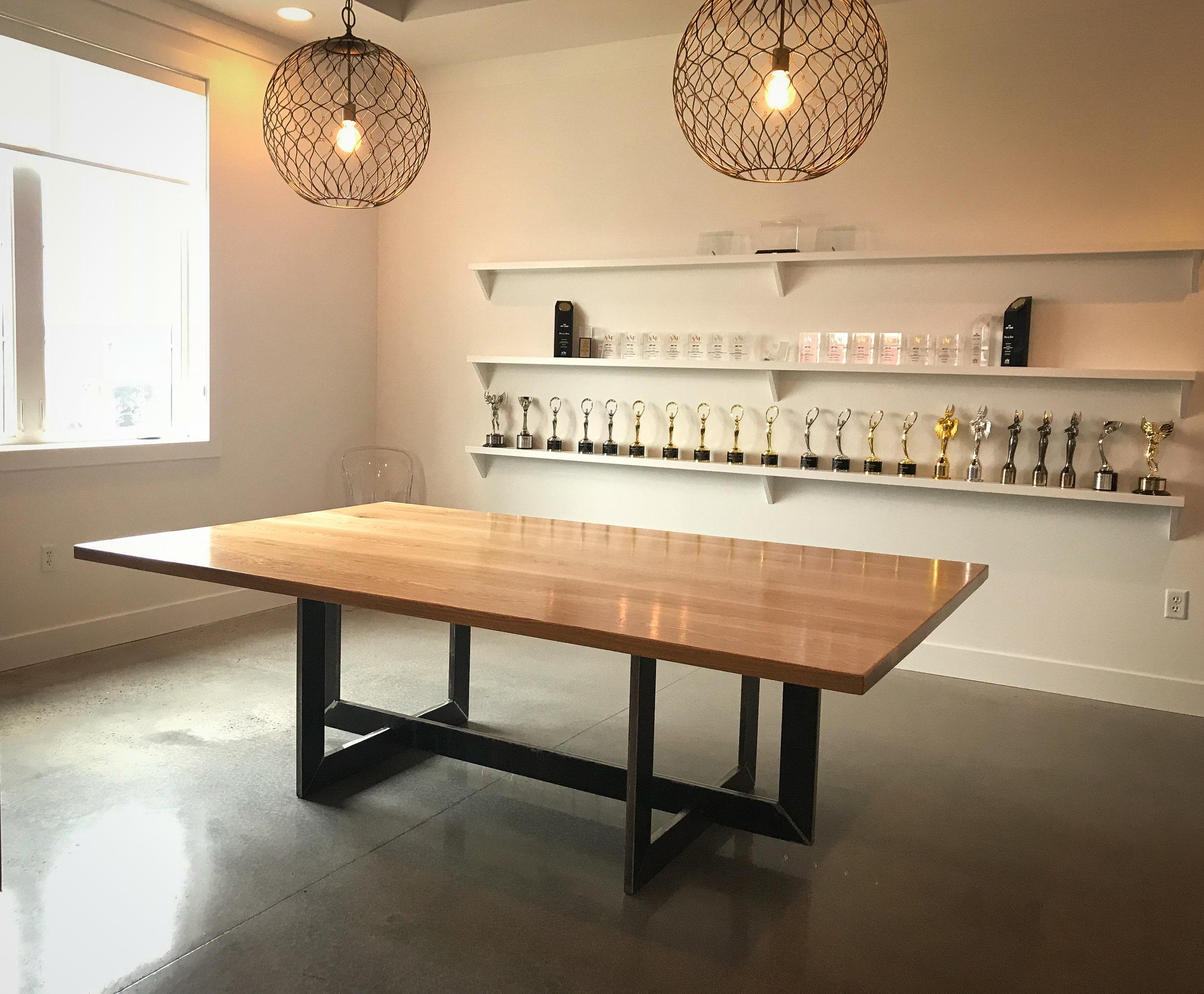 bespoke furniture, custom handmade conference table