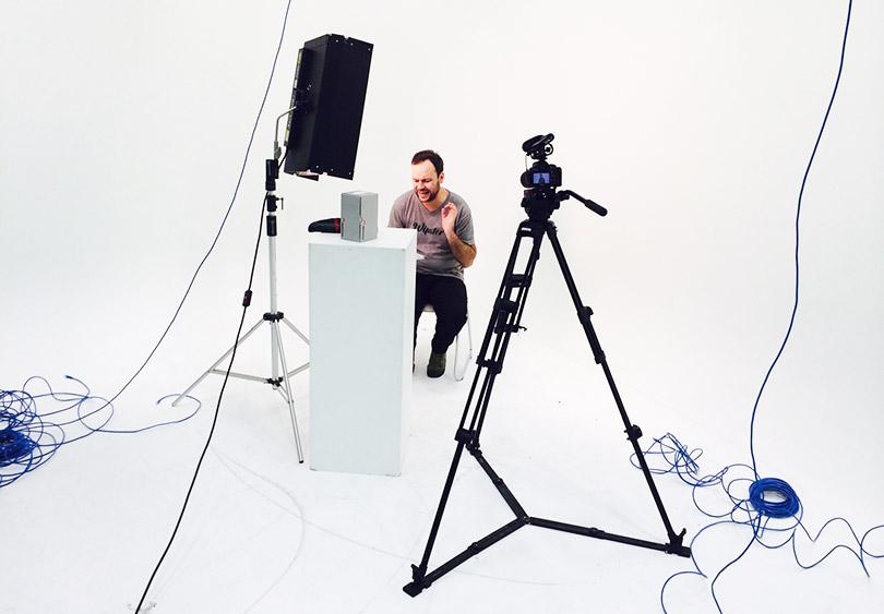 Our designer discovers the camera has a remote.