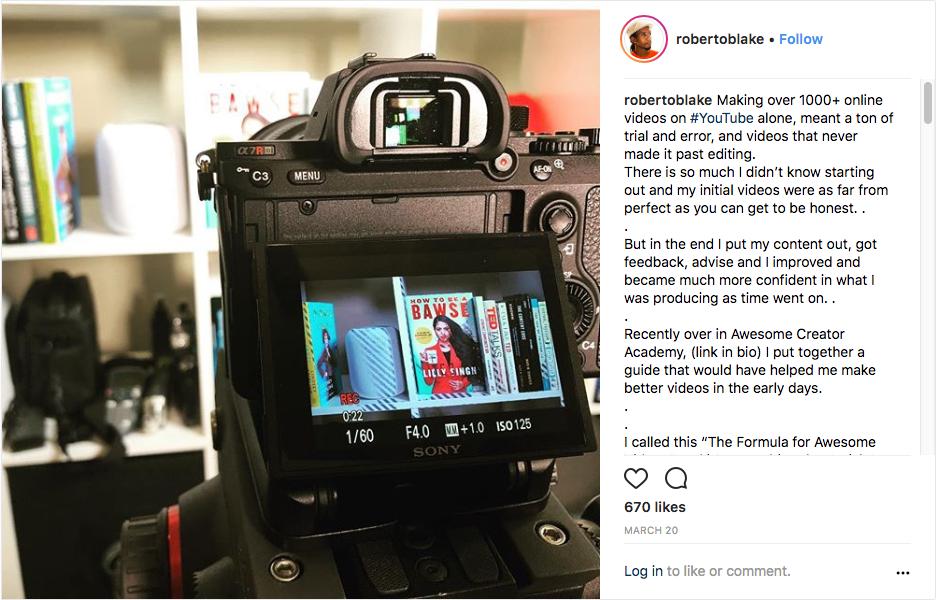 Roberto Blake Instagram
