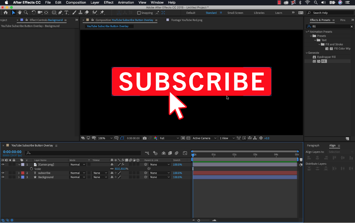 adobe after effects youtube subscribe button wipster