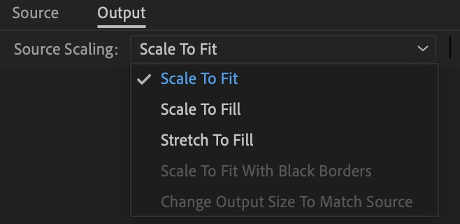 Adobe premiere pro source scaling