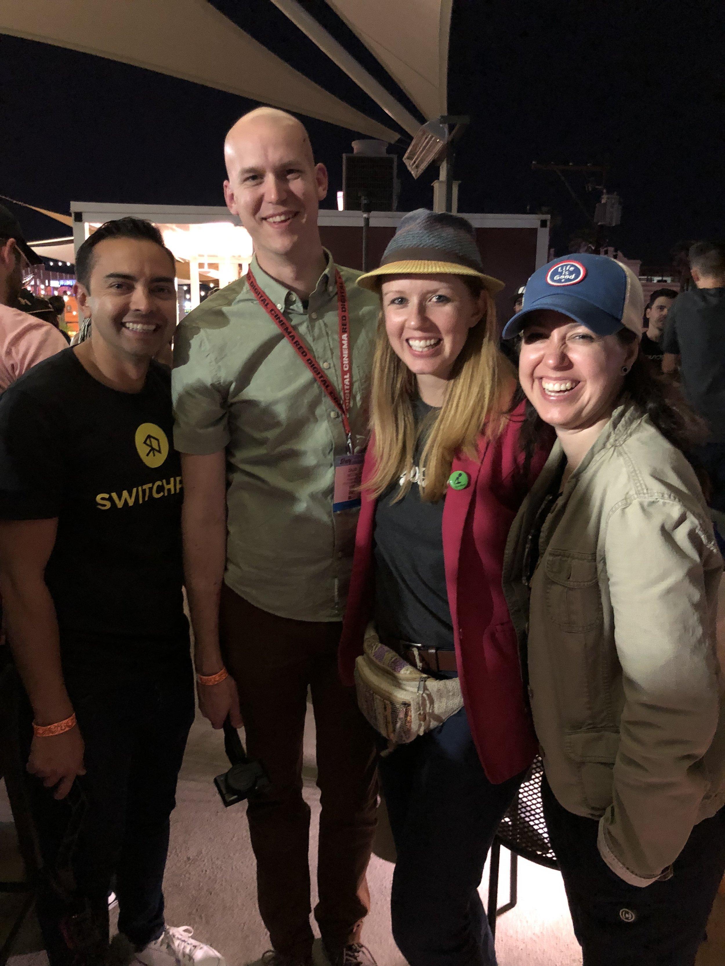 Pat Flynn, Caleb Wojcik, and Premiere Gal Team at Creator Meetup.