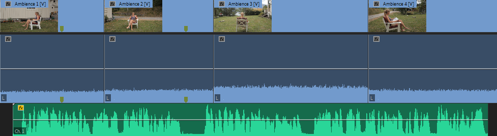 "Blue audio tracks are ""ambience."""