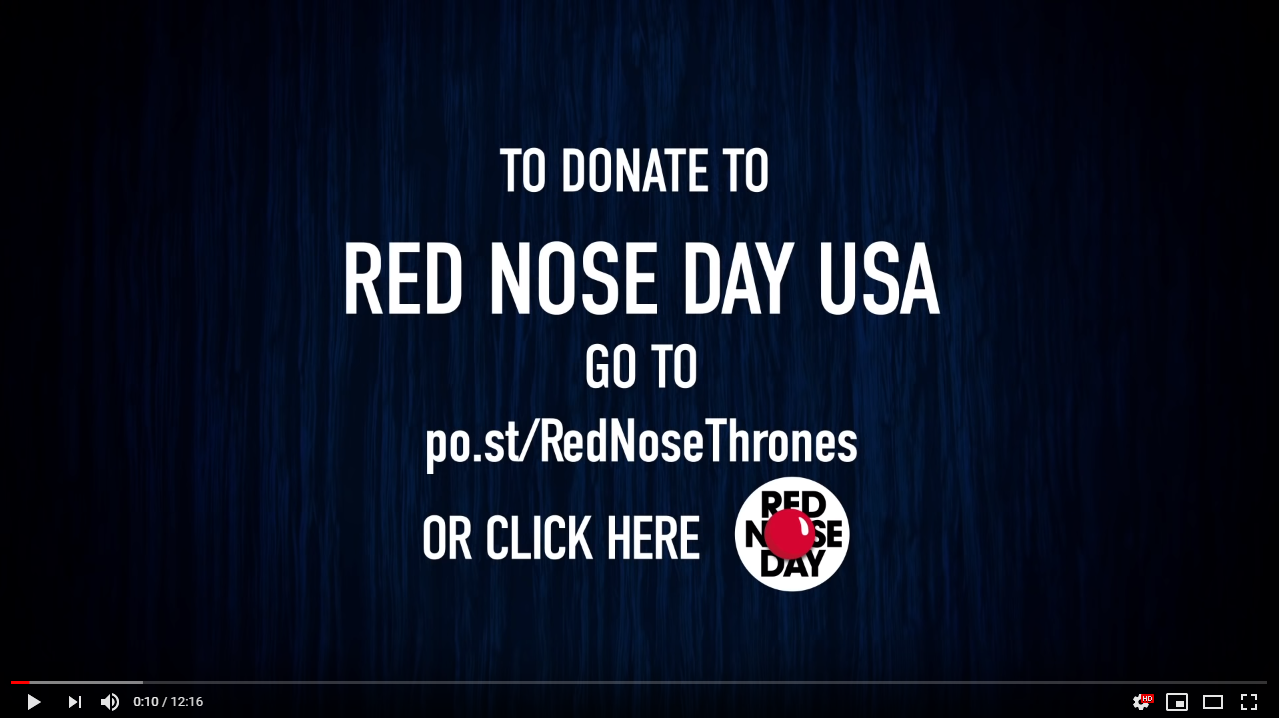 Printscreen of Red nose day