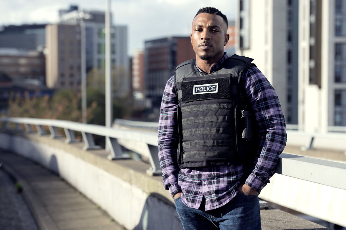 "Ashley Walters as ""Pike"" in Bulletproof - Photo cred: Sky UK Limited/The CW"