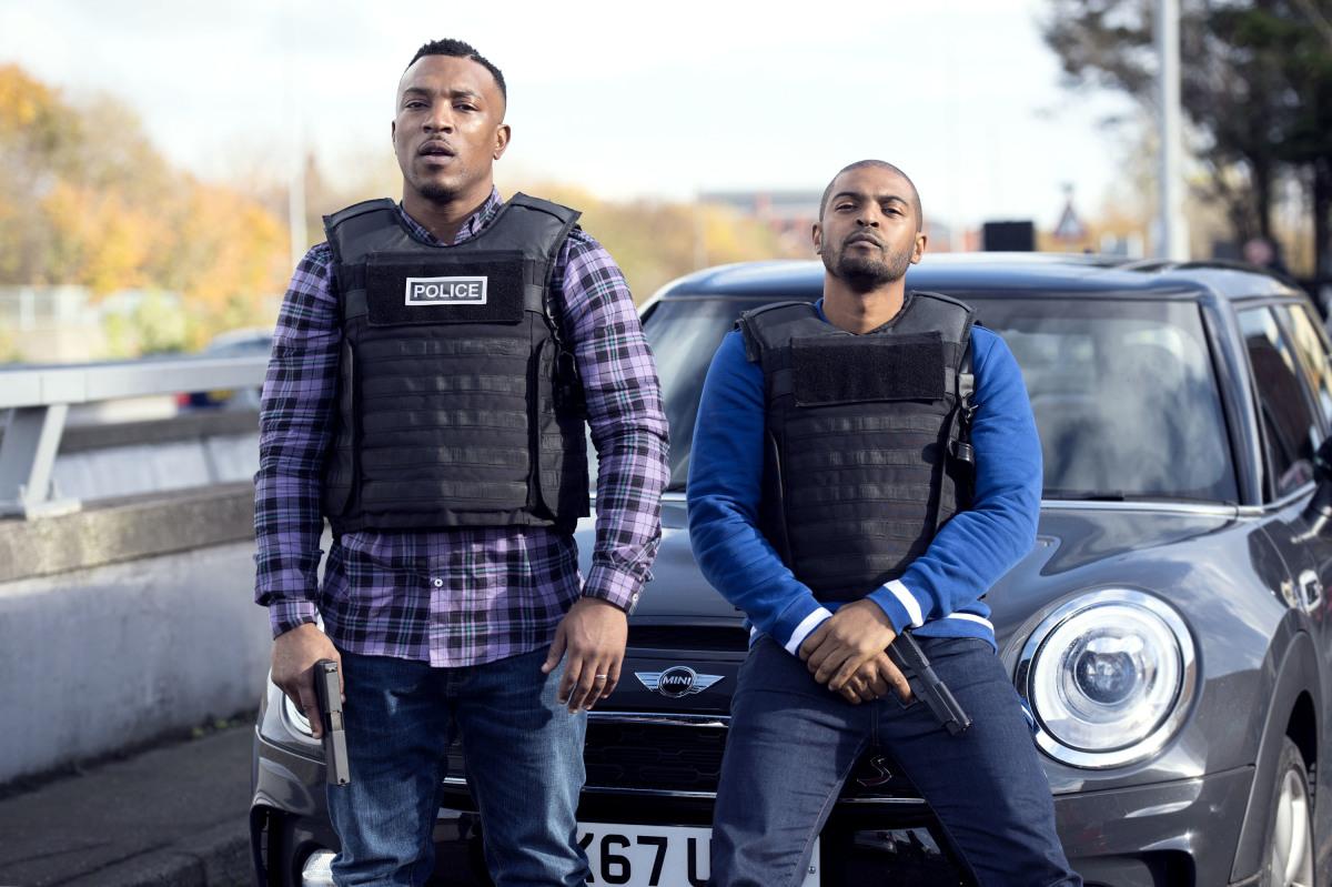 "Ashley Walters and Noel Clarke as ""Pike & Bishop"" Season One Bulletproof Photo Credit: Sky UK Limited/The CW"