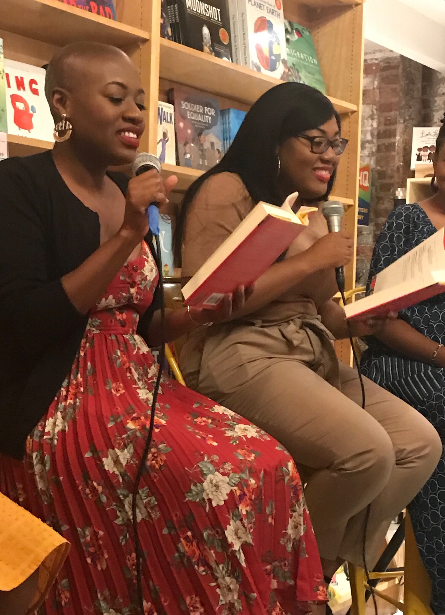 Maika & Maritza Moulite reading from their book at Books are Magic in.Brooklyn September 7th Photo Credit : Storm Jenkins