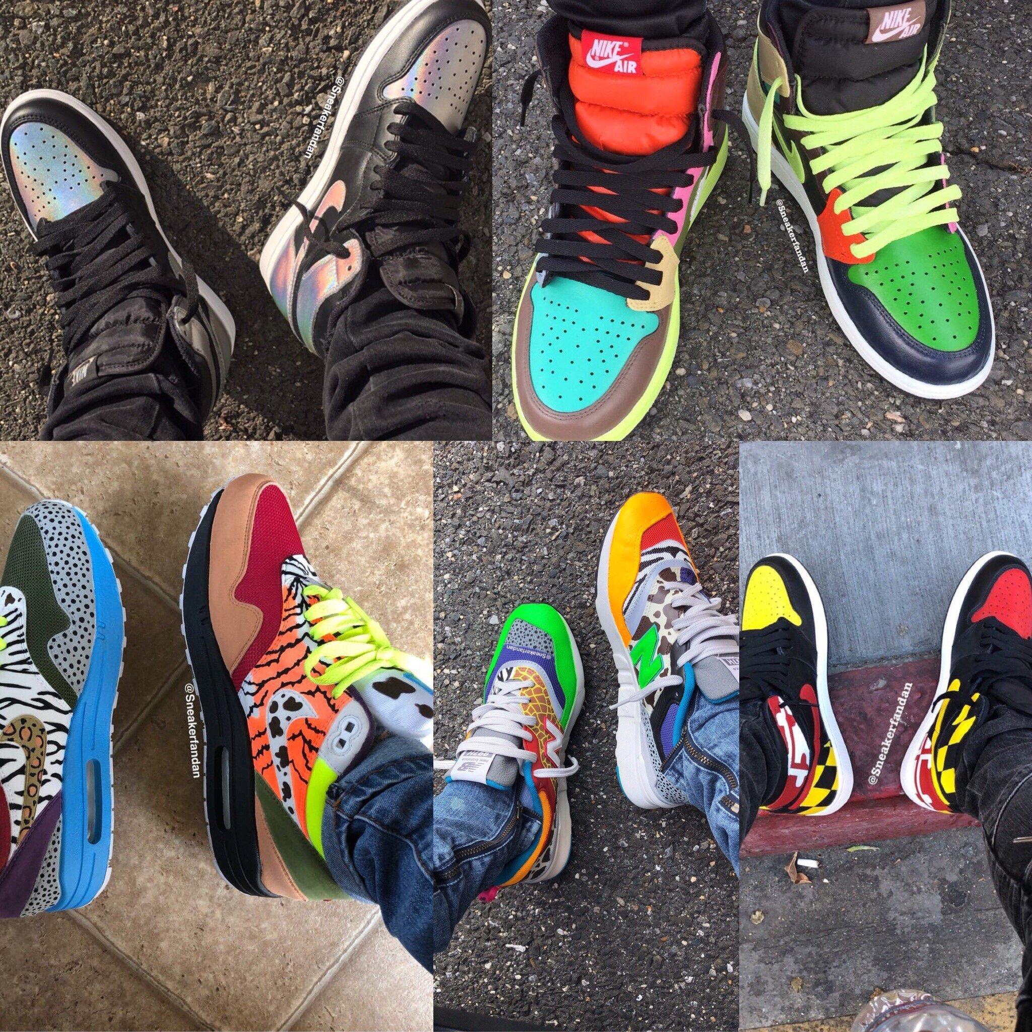 Danielle's Custom Kicks: Holographic 1s, No Clue 1s, Air Max, New Balance, Maryland 1s