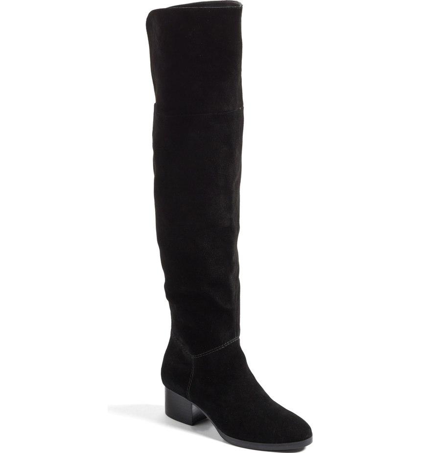 BP BlackSuede OTK Flat Boot