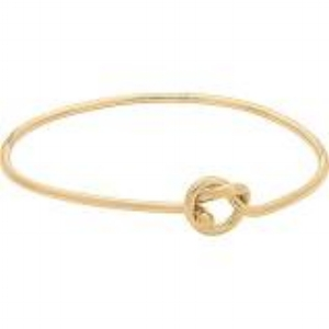 HER: Love Knot Bangle Bracelet (available in yellow gold, rose gold & silver)