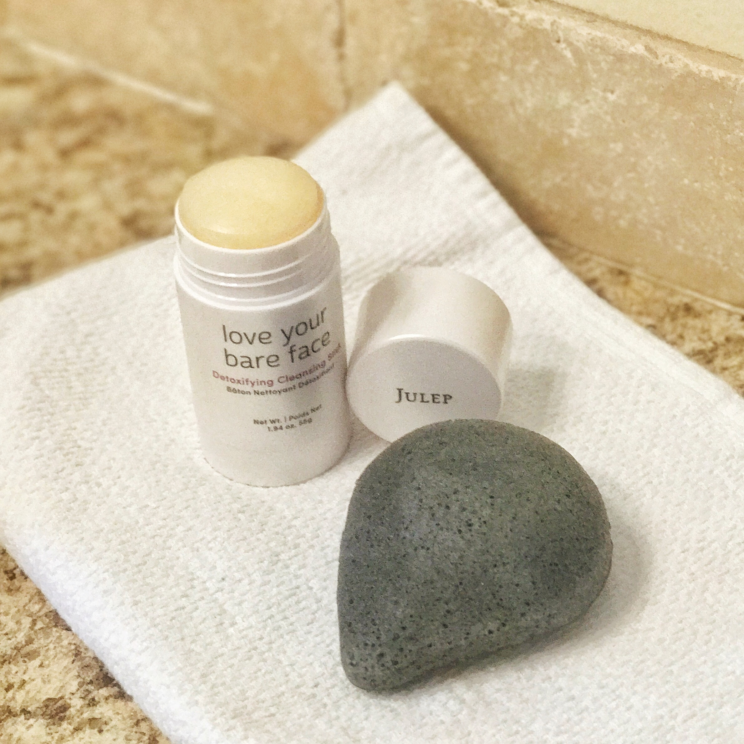 The Love your Bare Face Detoxifying Cleansing Stick   and   Konjac Sponge