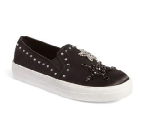 These   embellished sneakers   are my bedazzled dream! I can't wait to style them with jeans or denim skirt.
