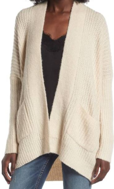 And, of course, this   new cardigan   was a must. It can't fight the addiction, it's too powerful. The color is perfect and it's insanely cozy and and soft. It also comes in gray. But both are selling out super fast.