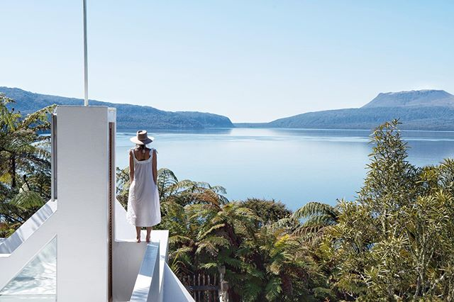Lake Tarawera   New Zealand  At our amazing @airbnb this weekend, our wonderful hosts told us how this lake supports them. They bath, eat and even drink from the water 💦 It's our hope that all water (rivers, lakes and oceans) here in NZ are protected and restored to the point where they can support life 🌏
