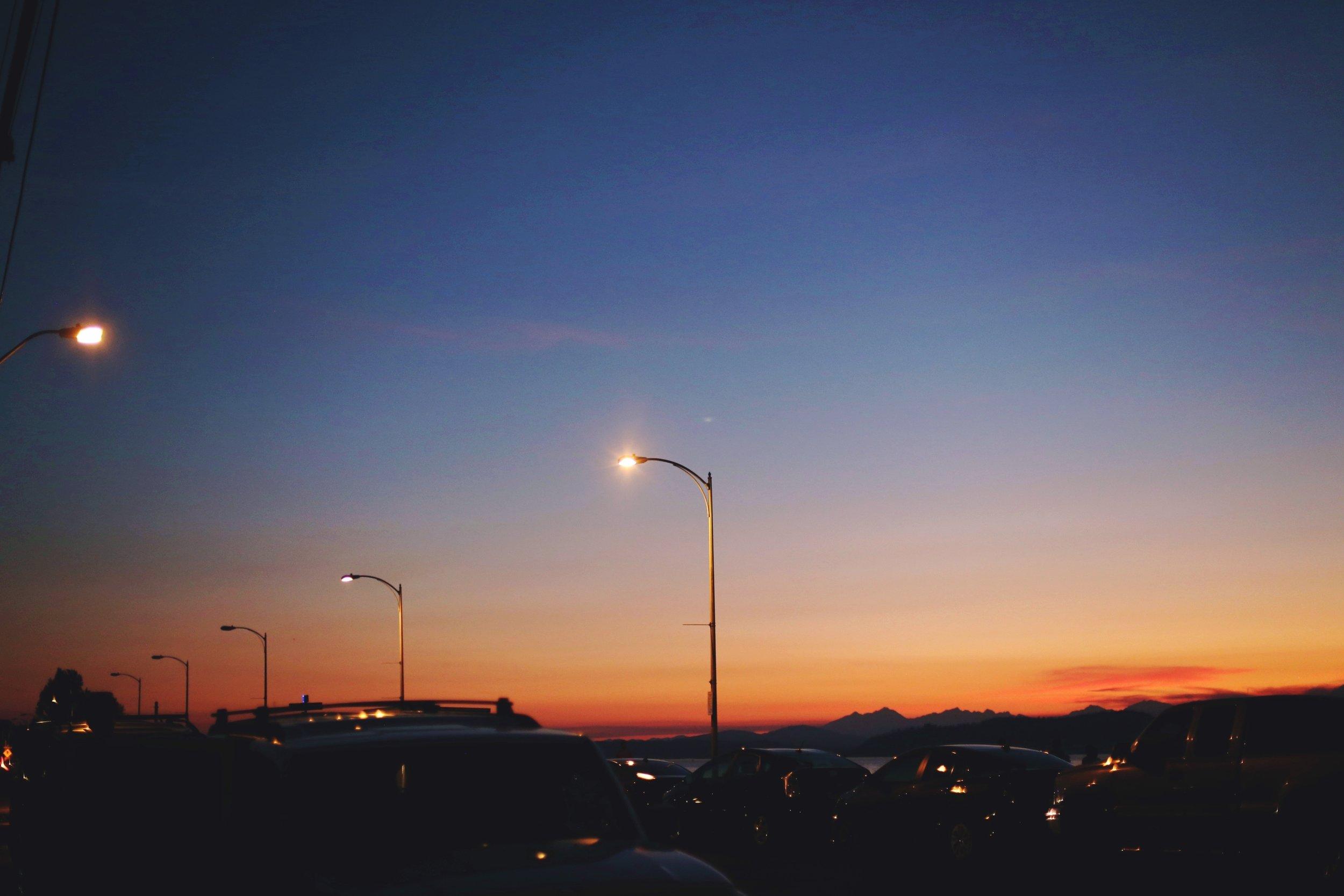 Alki Beach_Sunset_Summer_Seattle Fashion Blogger from Japan_Aikas Love Closet_Orange sky