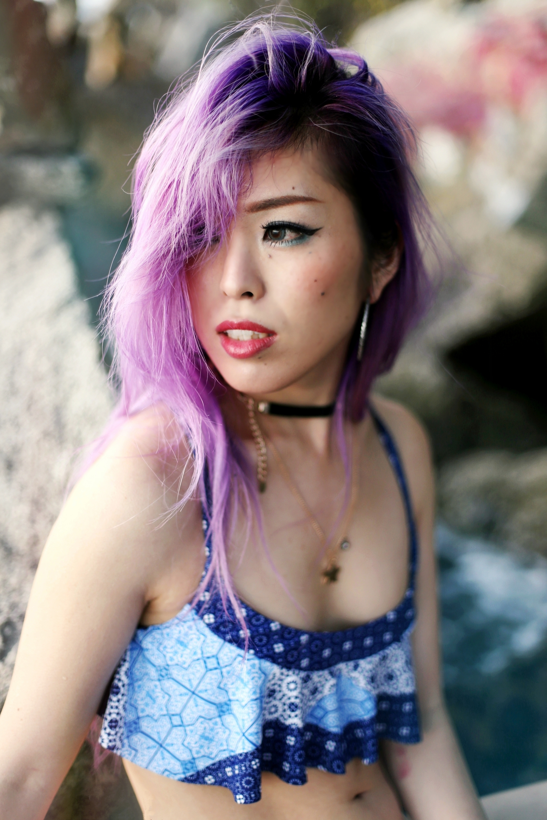 Always Be Yourself. Unless You Can Be A Mermaid. Then Alaways Be A Mermaid. Aikas Love Closet. Lavender Hair. Minkpink swimsuit.jpg
