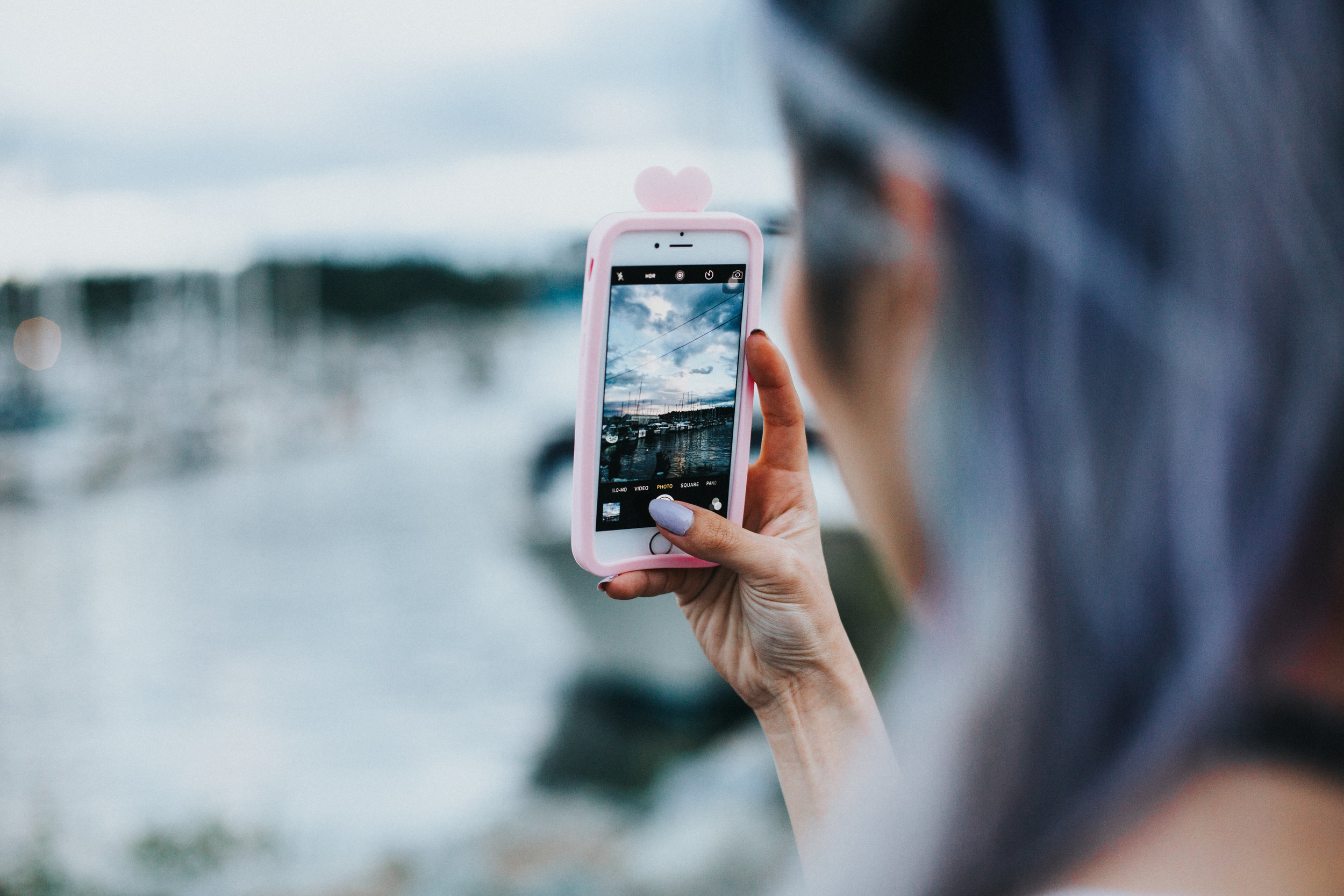ZARA Silver Maxi Slip Dress_Missguided Black Choker_Revolve White Tee_JustFab Red Mini Bag_Topknot Hair_Mermaid Hair_Lavender Hair_Aikas Love Closet_Seattle Fashion Style Blogger from Japan_No Weekends Pink Mirrored Sunnies_Zara Pink Bomber Jacket