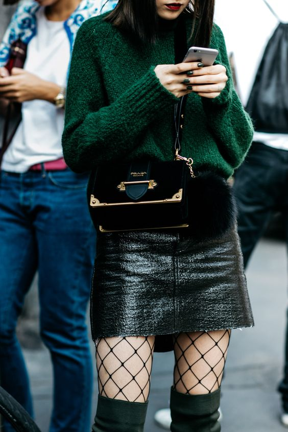 Aika's Love Closet-90's trend-fishnet tights and socks-inspiration-street style-Seattle Fashion Blogger from Japan 16