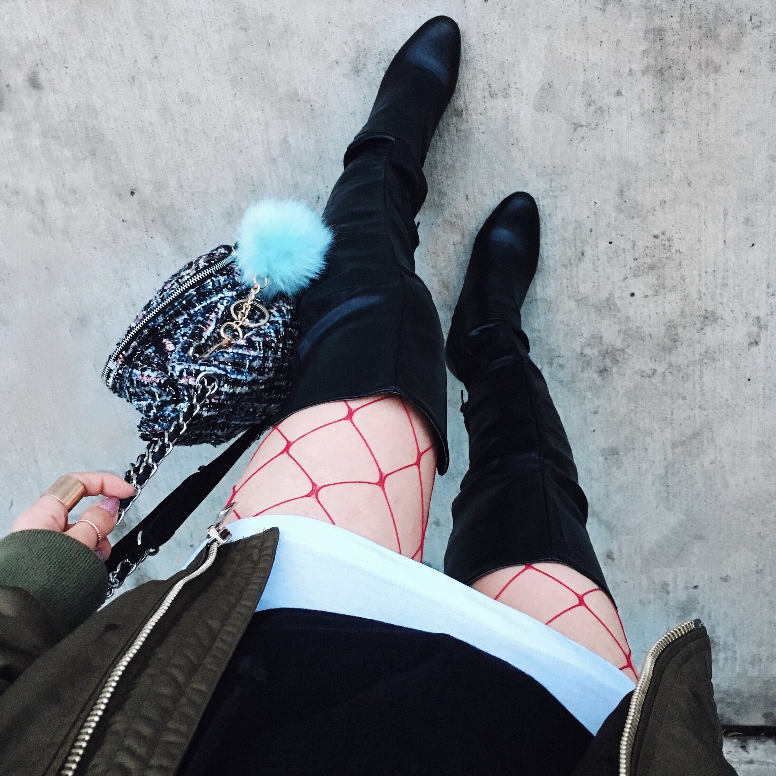 Aika's Love Closet-90's trend-fishnet tights and socks-inspiration-street style-Seattle Fashion Blogger from Japan 19