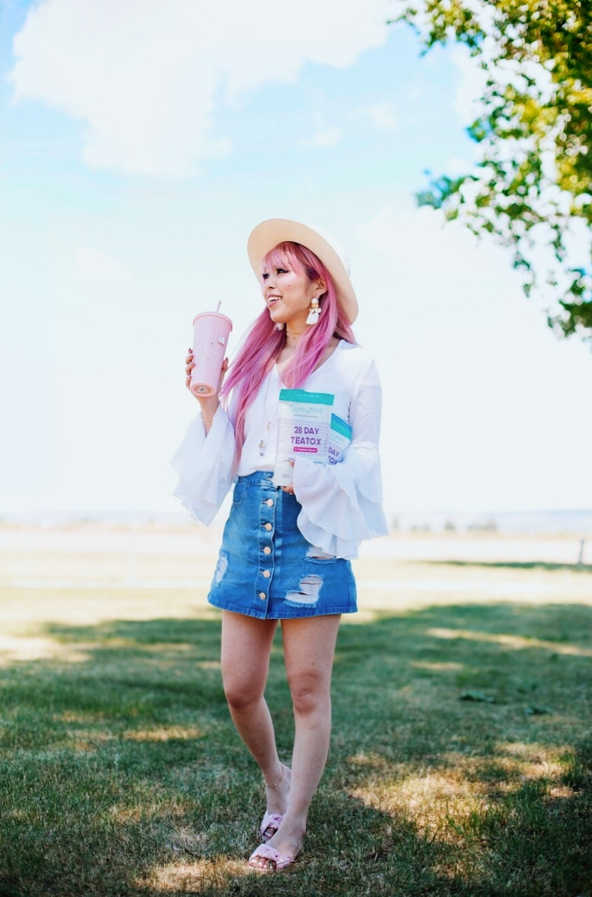 SkinnyMint Teatox - detox - exercise-healthy life style-all natural -Aika's Love Closet - Seattle Style Fashion Lifestyle Blogger - pink hair