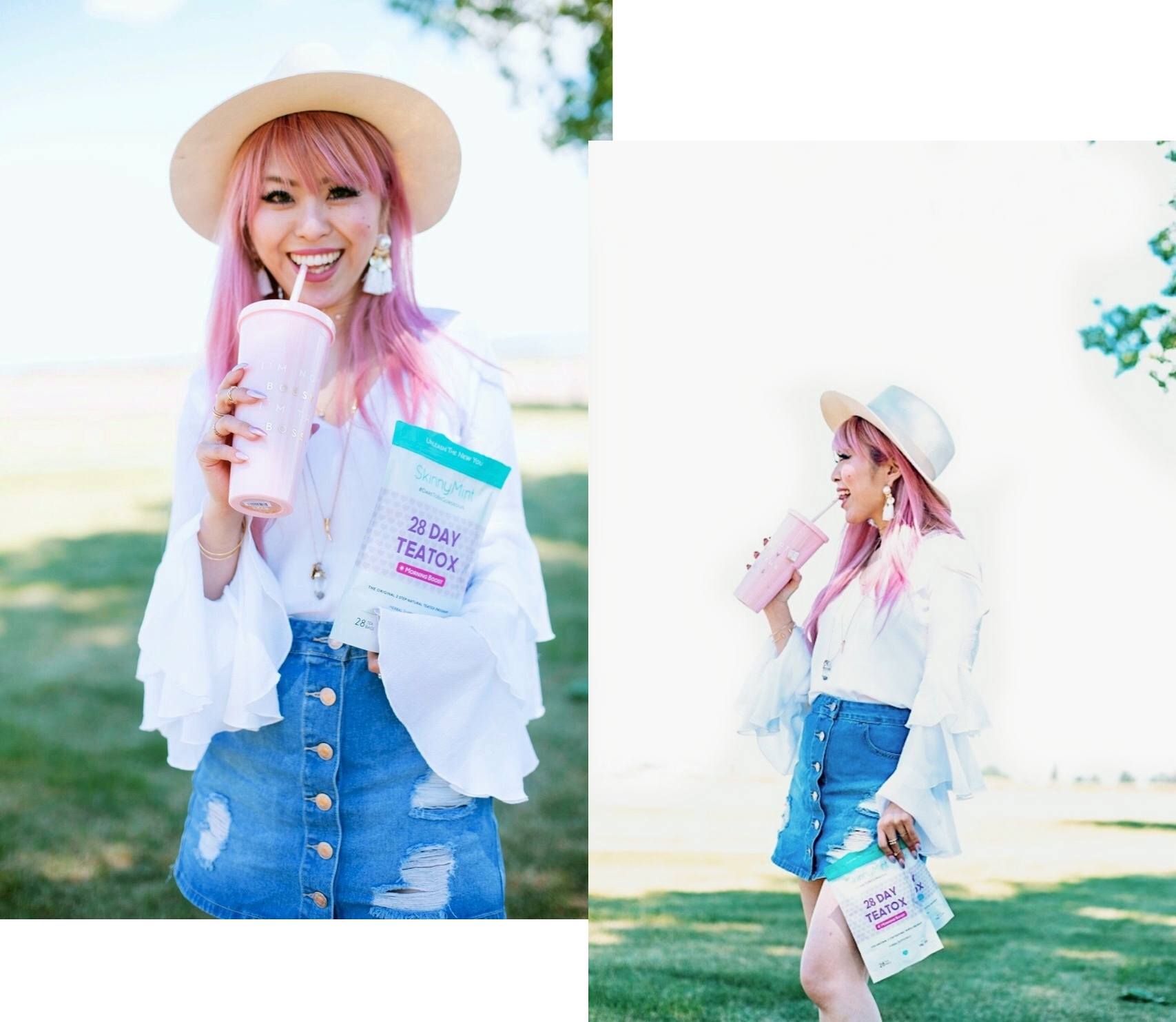 SkinnyMint Teatox - detox - exercise-healthy life style-all natural -Aika's Love Closet - Seattle Style Fashion Lifestyle Blogger - pink hair 5
