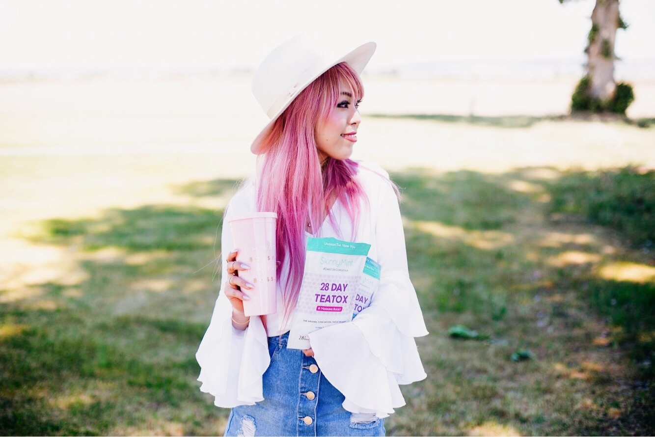 SkinnyMint Teatox - detox - exercise-healthy life style-all natural -Aika's Love Closet - Seattle Style Fashion Lifestyle Blogger - pink hair 7