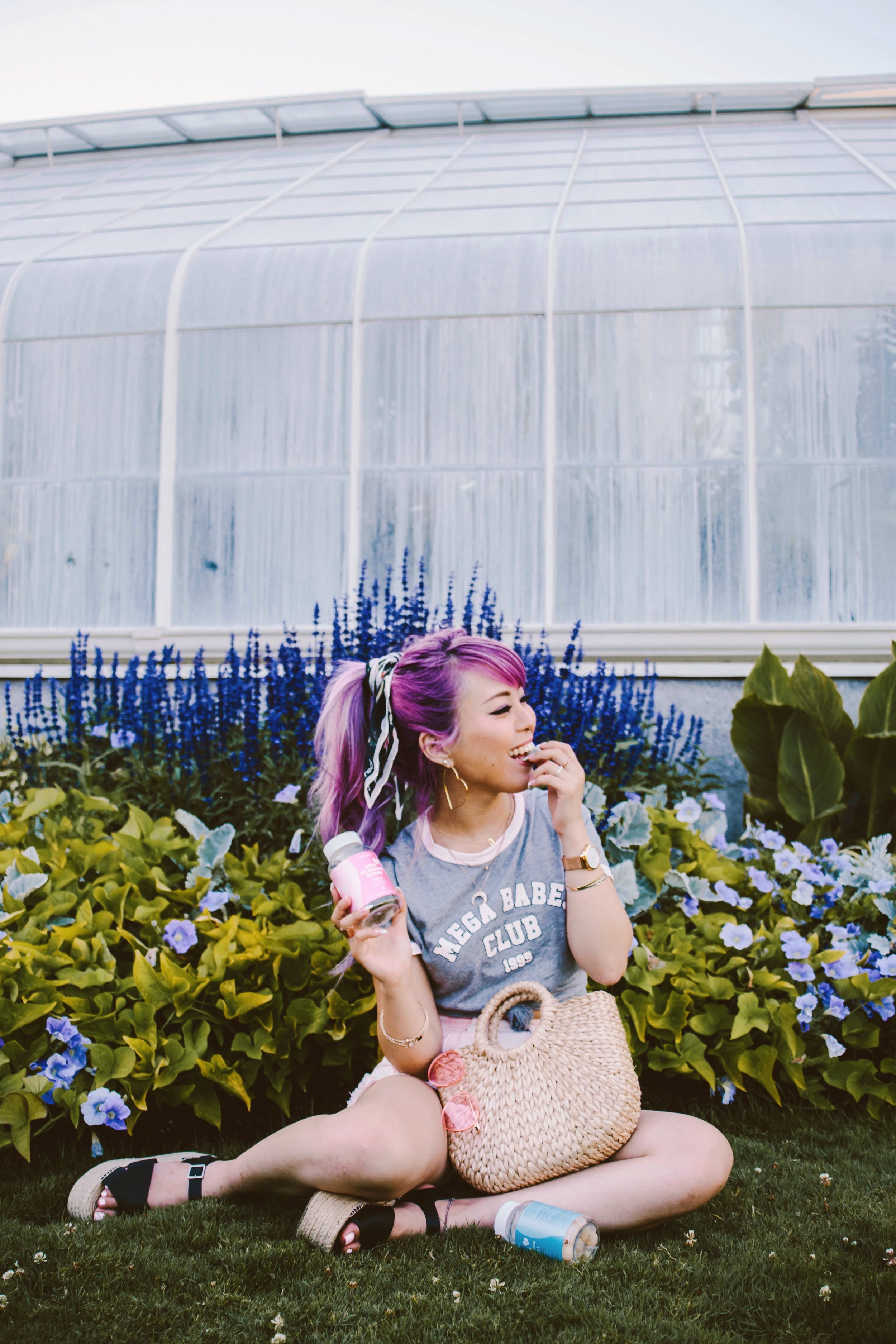 SkinnyMint Super Fat Burning Gummies_Purple Hair_Lifestyle_healthy-ootd-pony tail-summer-happy-supliment-fut burning-weight loss-style blogger-seattle fashion blogger-japanese-colored hair
