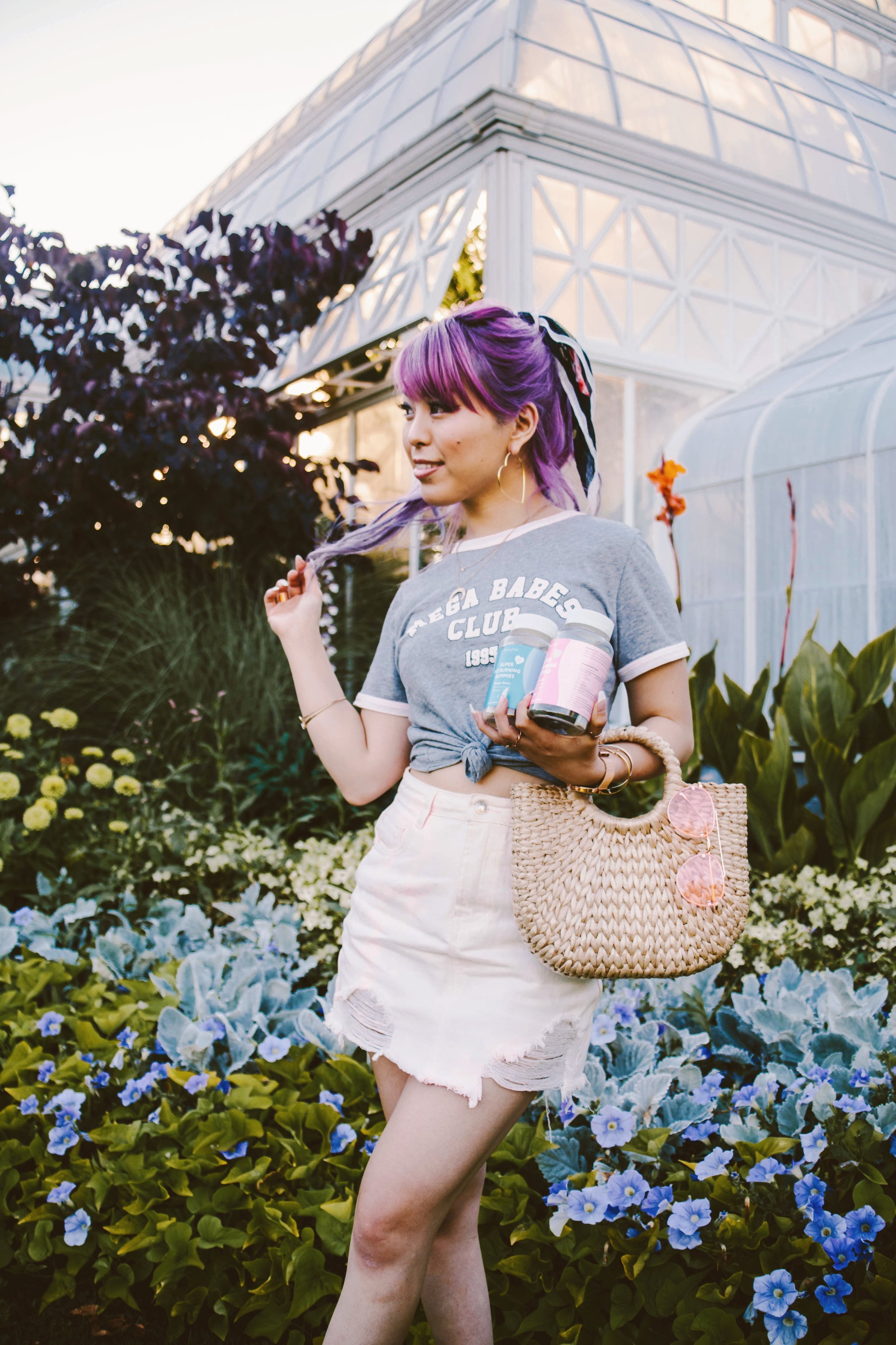 SkinnyMint Super Fat Burning Gummies_Purple Hair_Lifestyle_healthy-ootd-pony tail-summer-happy-supliment-fut burning-weight loss-style blogger-seattle fashion blogger-japanese-colored hair 7