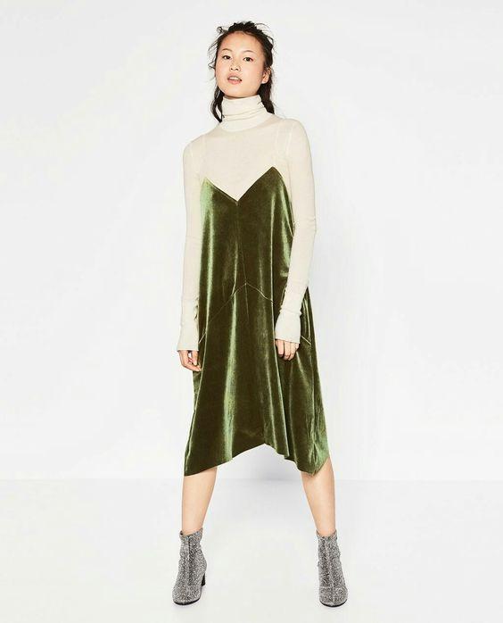 Top Velvet Fashion Trends for winter- aika's Love closet-japanese-seattle style fashion blogger-colored hair- Green Velvet Slip Dress.jpg