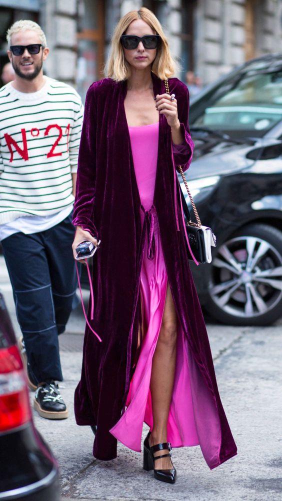 Top Velvet Fashion Trends for winter- aika's Love closet-japanese-seattle style fashion blogger-colored hair - purple velvet kimono cardigan- street snap.jpg