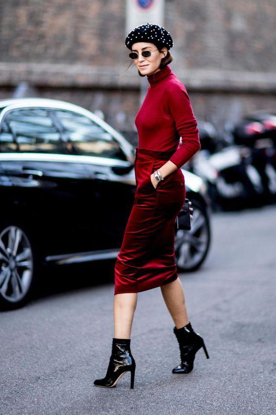 Top Velvet Fashion Trends for winter- aika's Love closet-japanese-seattle style fashion blogger-colored hair- red velvet midi skirt - street snap.jpg