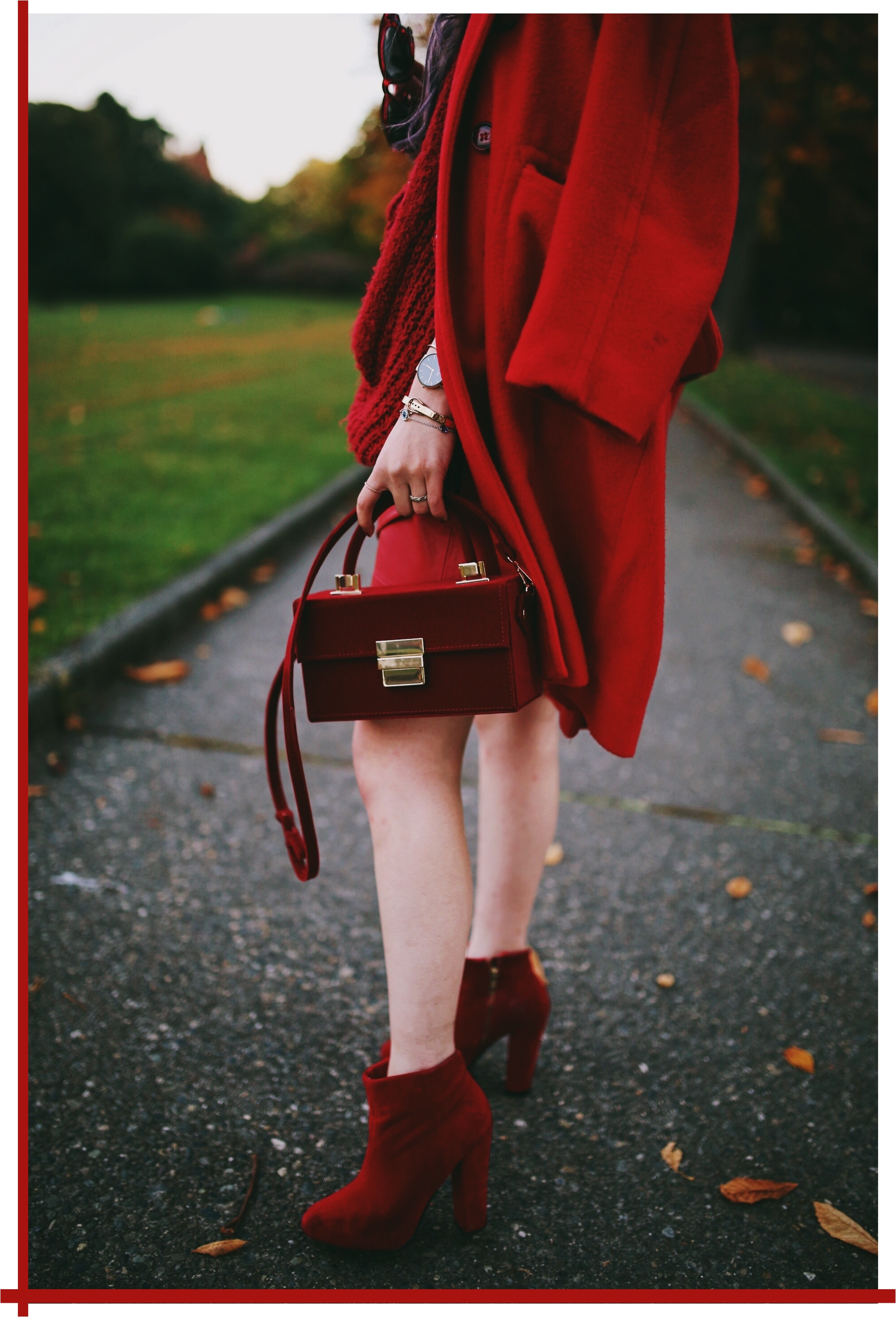 Vintage Red Coat-Red oversized sweater-zara faux leather red mini skirt-Nasty Gal Red ankle Boots-Free People Red framed sunglasses-kara red boxy bag-Daniel Wellington rose gold petite watch-Aikas Love Closet-Seattle style fashion blogger-japanese-pink hair-unicorn hair 17