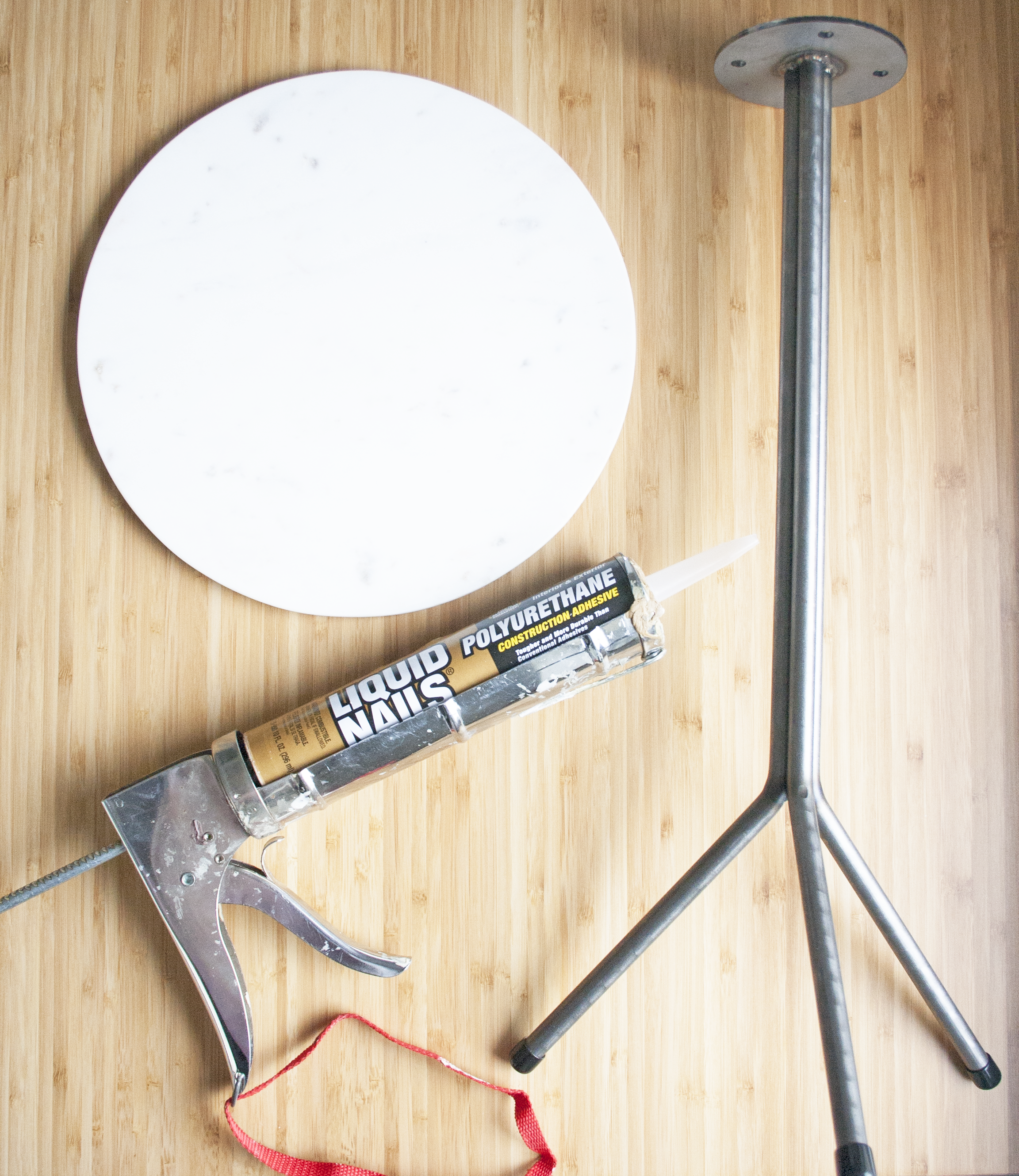 marble accent table | sarah makes stuff