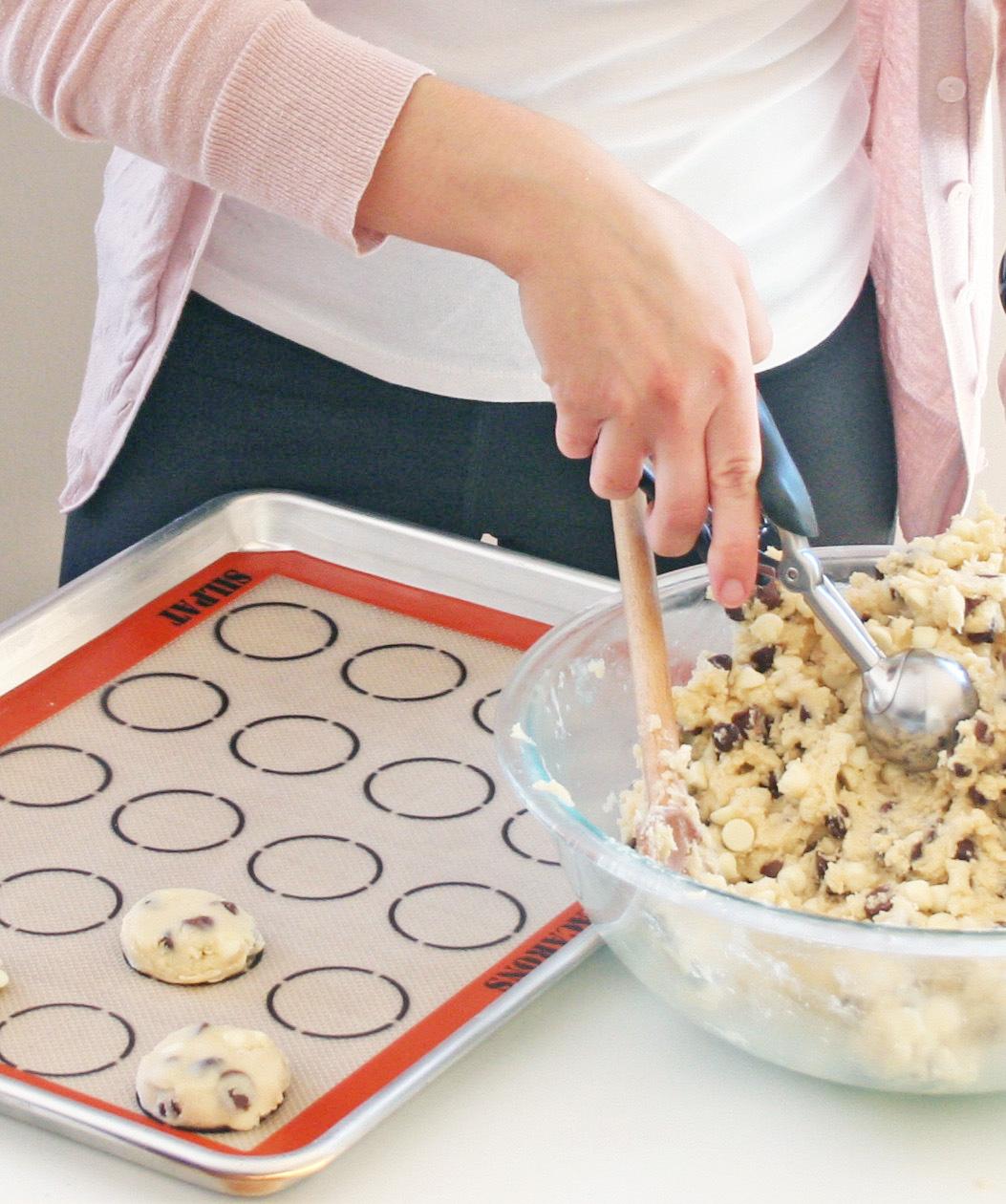 triple chocolate chip cookies | sarah makes stuff