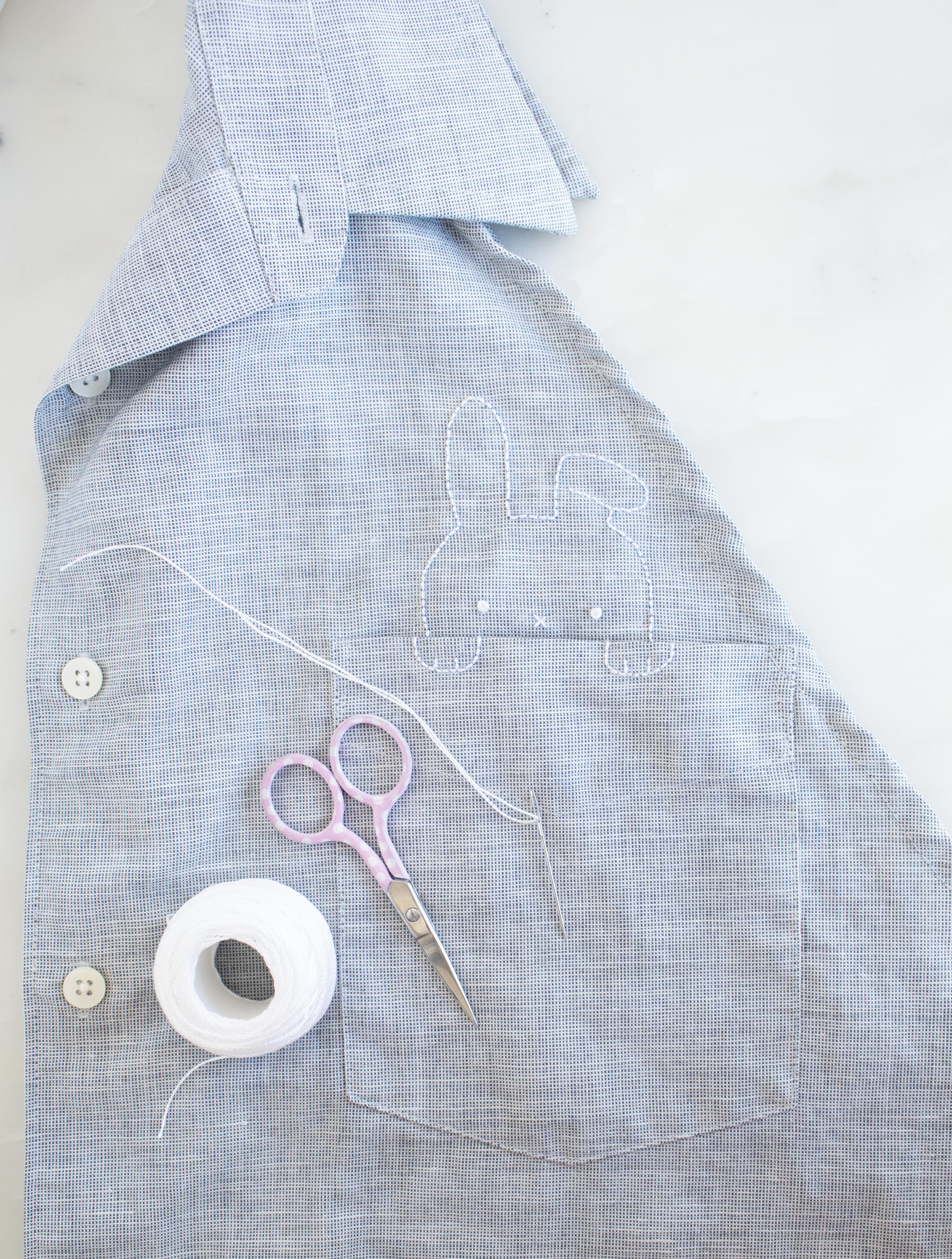 Embroidered Bunny Pocket | Sarah Makes Stuff