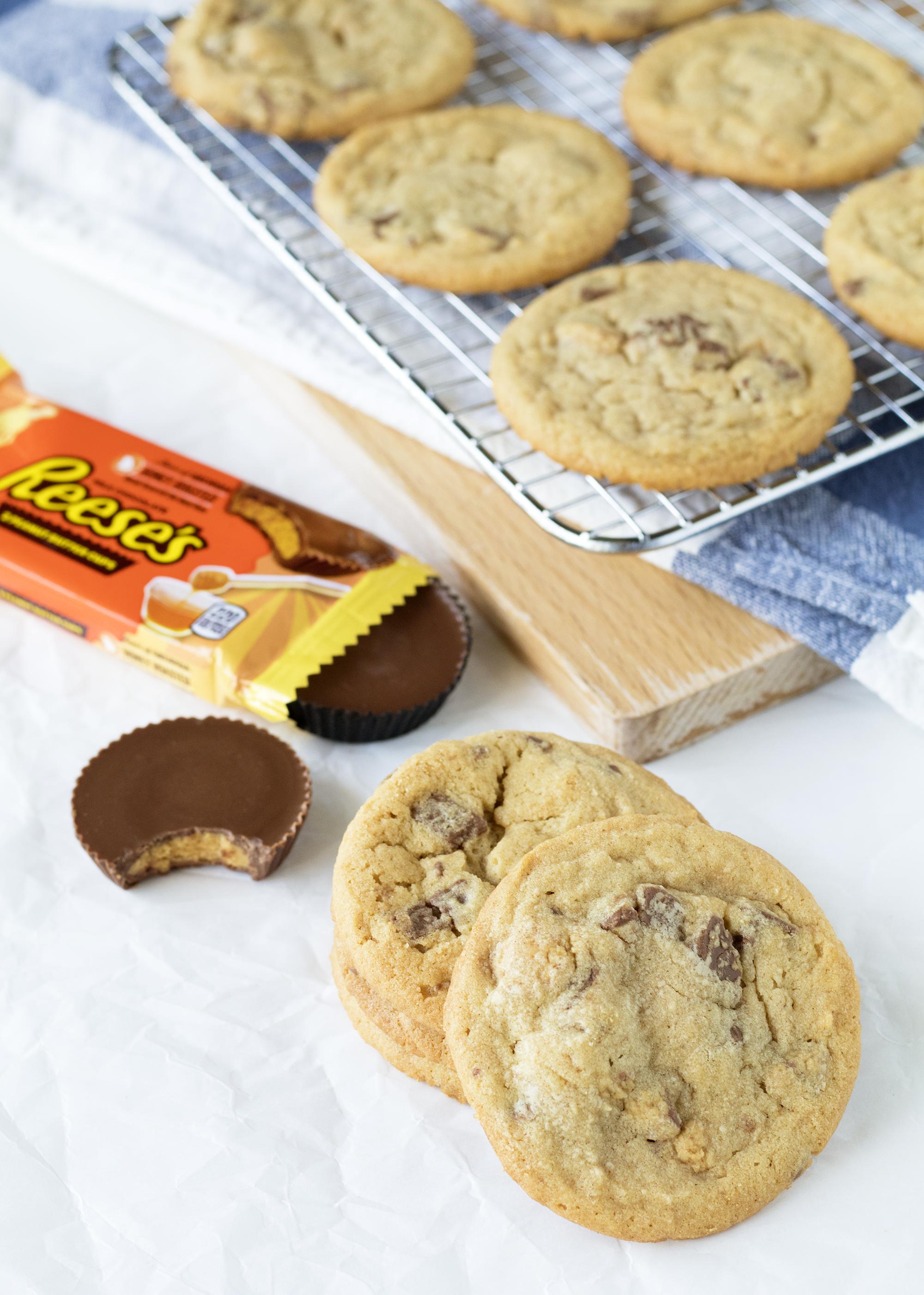 Honey Roasted Reese's Peanut Butter Cookies   Sarah Makes Stuff