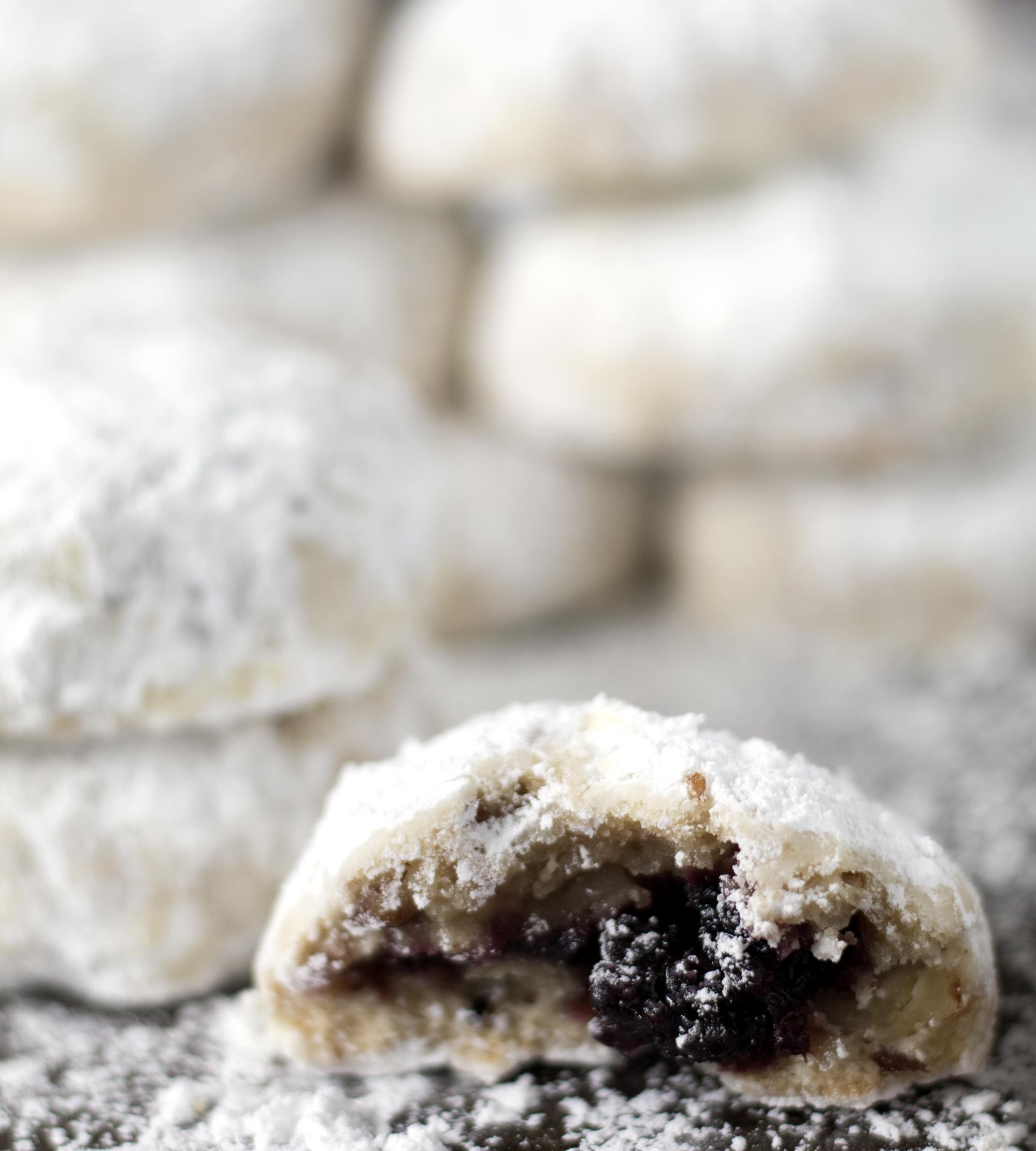 Castle Blackberry Jam Snowball Cookies | Sarah Makes Stuff