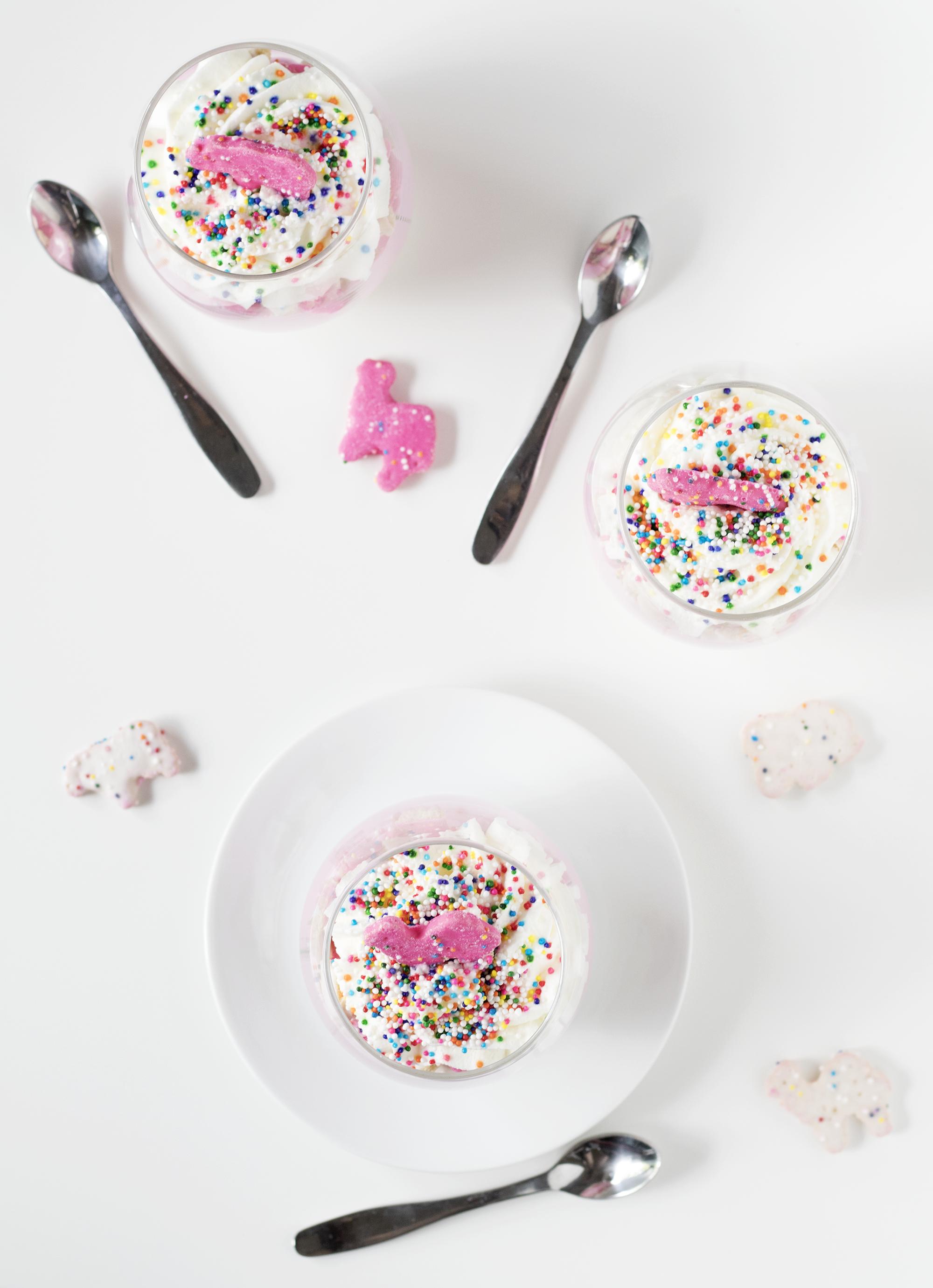 Circus Animal Cookie No-Bake Cheesecake Parfaits   Sarah Makes Stuff
