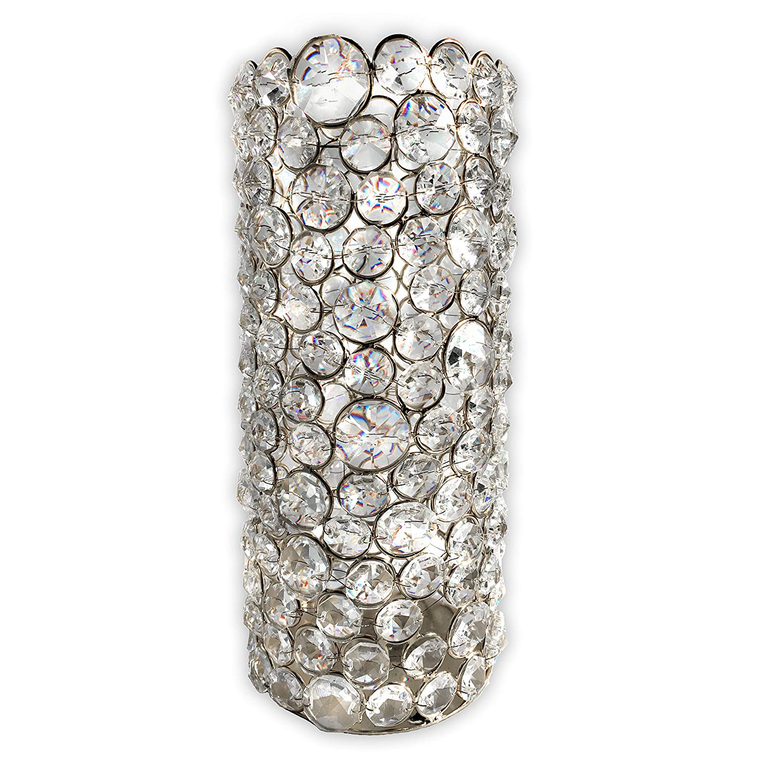 Grandioso Silver Crystal Candle Holder