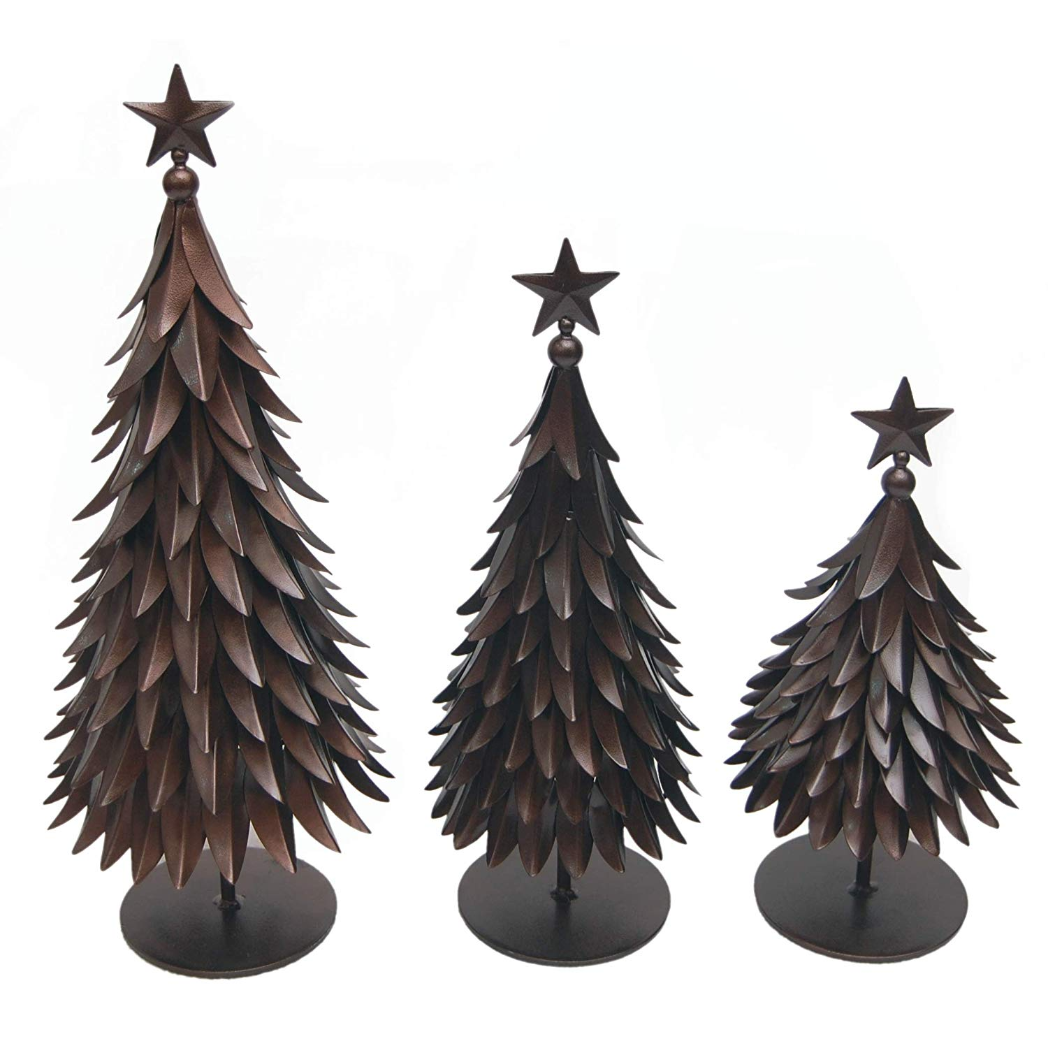 Bronze Christmas Tree Figurines